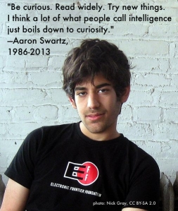 We must stop this insanity... I hope you have found peace, thank you, Aaron, for all you are. You'll never be forgotten.