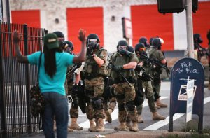 ferguson MO police michael brown protest swat