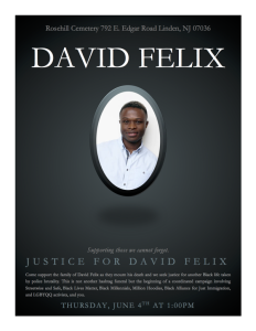 David Felix Murdered by NYPD