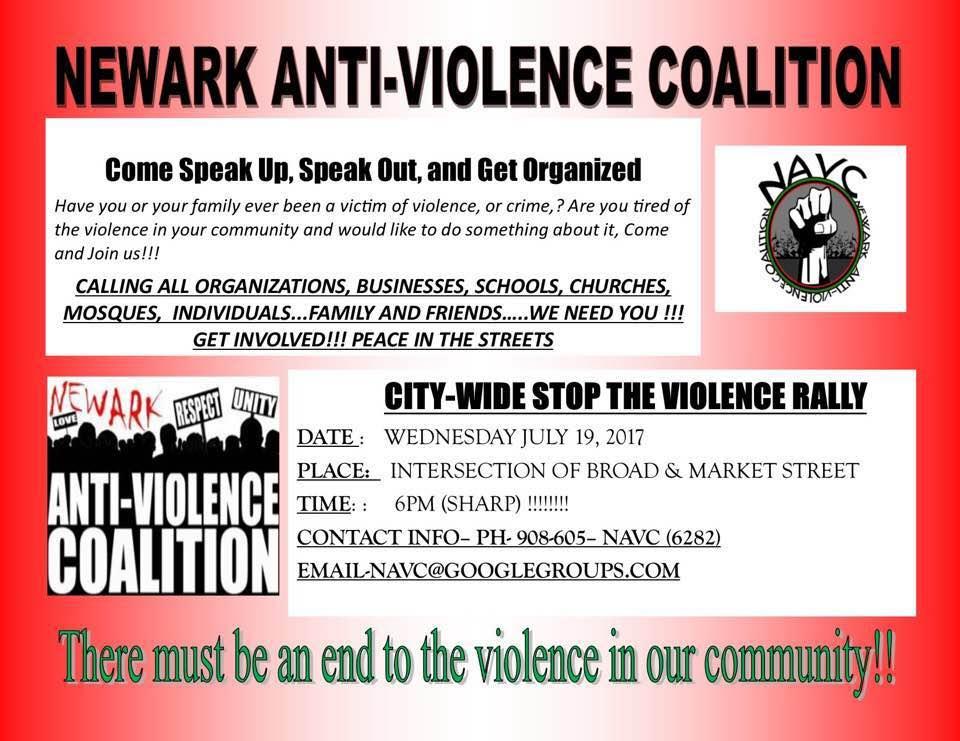 newark black on black violence police violence newark anti-violence