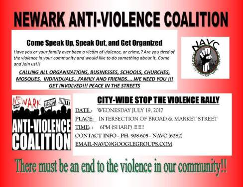 newark black on black violence police violence newark anti-violence