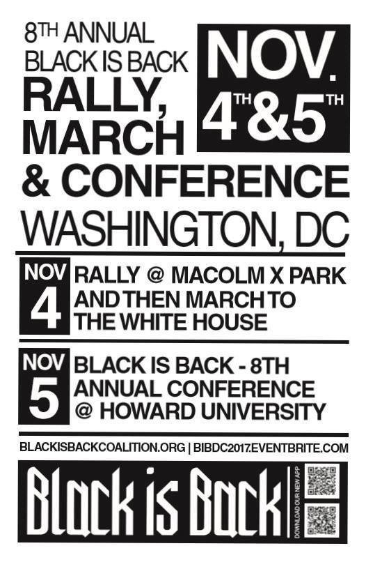 8th Annual Black is Back Rally, March & Conference